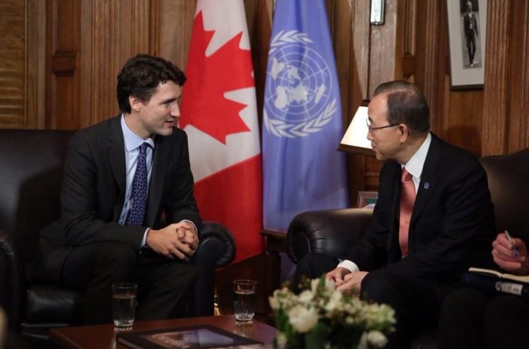Justin Trudeau, Ban-ki Moon